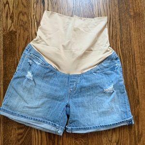Loft Jean Maternity Shorts